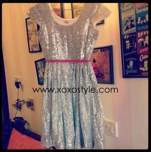 Blair's Silver Cap sleeved dress