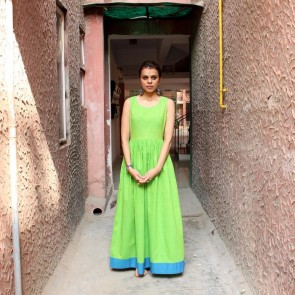 Green Cotton Maxi