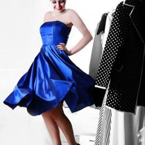 Marilyn Midnight Blue Silk Dress