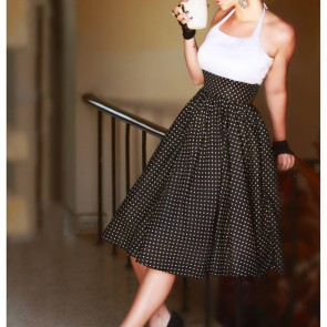Monroe Polka Glam Midi Dress