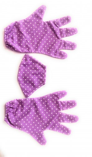 Cotton gloves with mask set