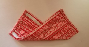red printed Organic Cotton Mask