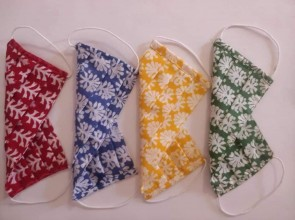 Printed Cotton Mask, pack of 4