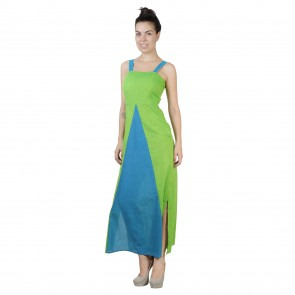 Green Blue Triangle Dress