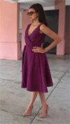 Purple Wraparound Dress